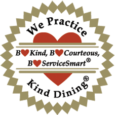 Image of We Practice Kind Dining badge