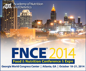 Skyline of Atlanta with FNCE convention information