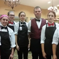 Group of dining servers who have been trained in Kind Dining